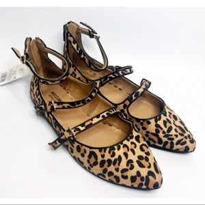 NEW Mossimo Leopard Print Micki Strappy Flats